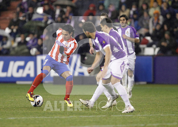 Radamel Facao during Real Valladolid V Atletico de Madrid match of La Liga 2012/13. 17/02/2012. Victor Blanco/Alterphotos