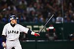 Seiichi Uchikawa (JPN), <br /> MARCH 15, 2017 - WBC : 2017 World Baseball Classic Second Round Pool E Game between Japan 8-3 Israel at Tokyo Dome in Tokyo, Japan. <br /> (Photo by Sho Tamura/AFLO SPORT)