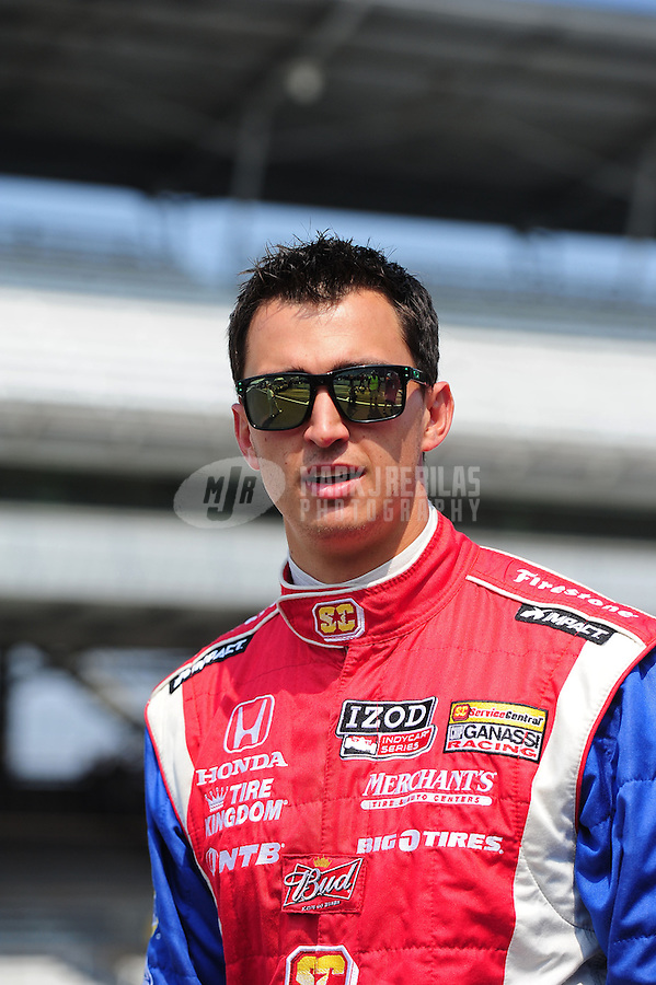 May 25, 2012; Indianapolis, IN, USA; IndyCar driver Graham Rahal during Carb Day at the Indianapolis Motor Speedway. Mandatory Credit: Mark J. Rebilas-