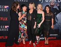LOS ANGELES, CA. October 22, 2018: Diane Lane, Constance Zimmer, Robin Wright, Patricia Clarkson &amp; Nini Le Huynh at the season 6 premiere for &quot;House of Cards&quot; at the Directors Guild Theatre.<br /> Picture: Paul Smith/Featureflash