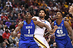 MILWAUKEE, WI - MARCH 16:  Minnesota Gophers forward Jordan Murphy (3) jostles for position against Middle Tennessee Blue Raiders forward Brandon Walters (1) during the first half of the 2017 NCAA Men's Basketball Tournament held at BMO Harris Bradley Center on March 16, 2017 in Milwaukee, Wisconsin. (Photo by Jamie Schwaberow/NCAA Photos via Getty Images)