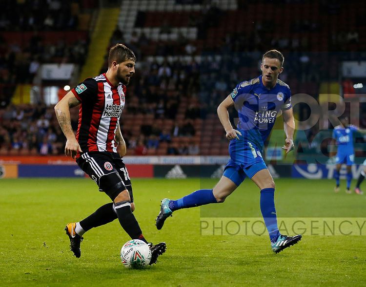 Kieron Freeman of Sheffield Utd during the Carabao Cup, second round match at Bramall Lane, Sheffield. Picture date 22nd August 2017. Picture credit should read: Simon Bellis/Sportimage