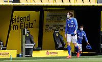 16th May 2020, Signal Iduna Park, Dortmund, Germany; Bundesliga football, Borussia Dortmund versus FC Schalke;  FC Schalke 04 players GREGORITSCH and SCHÖPF on their way to the substitutes bench