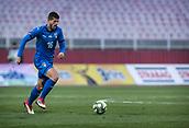 27th March 2018, Karadjorde Stadium, Novi Sad, Serbia; Under 21 International Football Friendly, Serbia U21 versus Italy U21; Midfielder Luca Valzania of Italy brings the ball across midfield