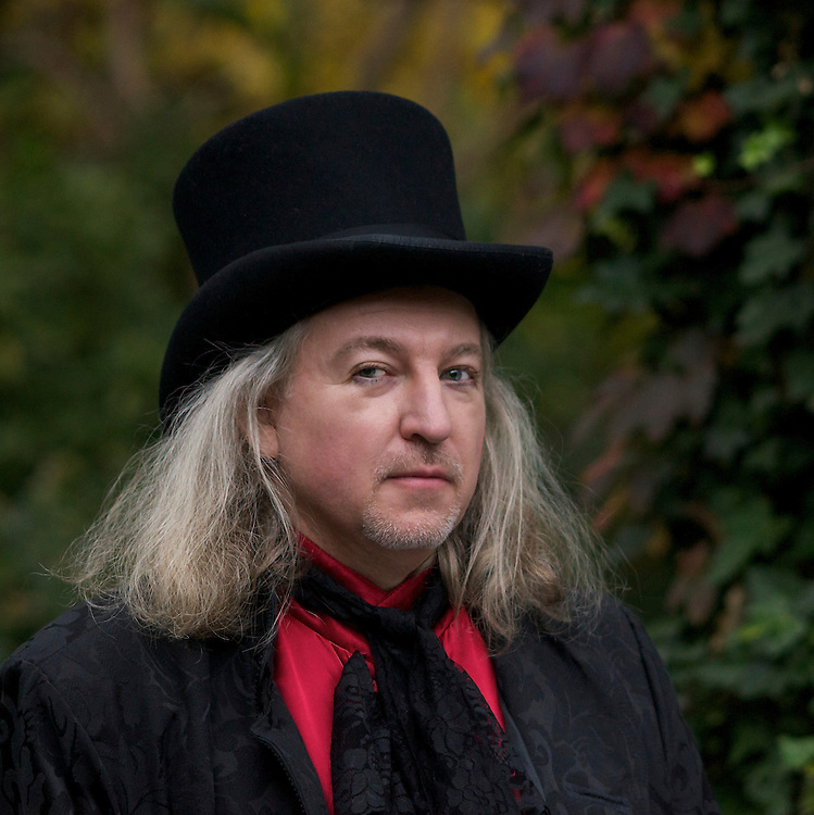 Singer/songwriter Roland Ruby photographed in Halloween costume.