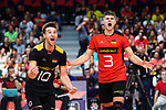 14.09.2019, Paleis 12, BrŸssel / Bruessel<br />Volleyball, Europameisterschaft, Deutschland (GER) vs. Belgien (BEL)<br /><br />Jubel Julian Zenger (#10 GER), Ruben Schott (#3 GER)<br /><br />  Foto © nordphoto / Kurth