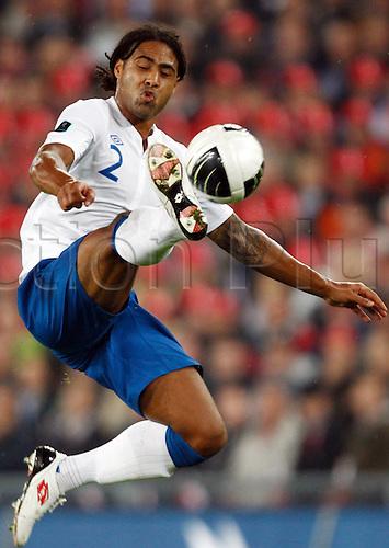 07.09.2010 European Championship Qualifier Switzerland v England. Picture shows Glen Johnson.