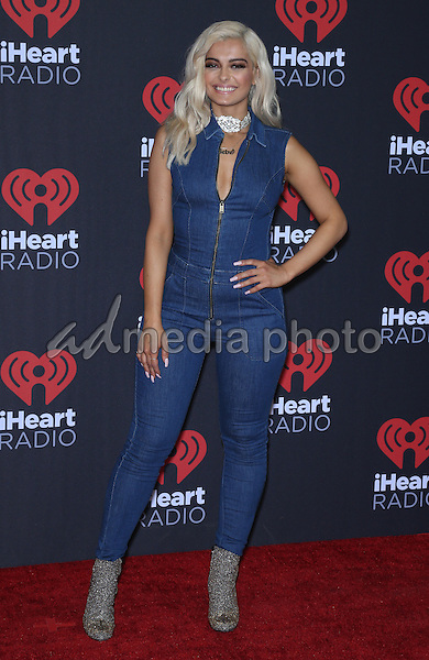 23 September 2016 - Las Vegas, NV -  Bebe Rexha.  2016 iHeart Radio Music Festival Photo Room at T-Mobile Arena.  Photo Credit: MJT/AdMedia