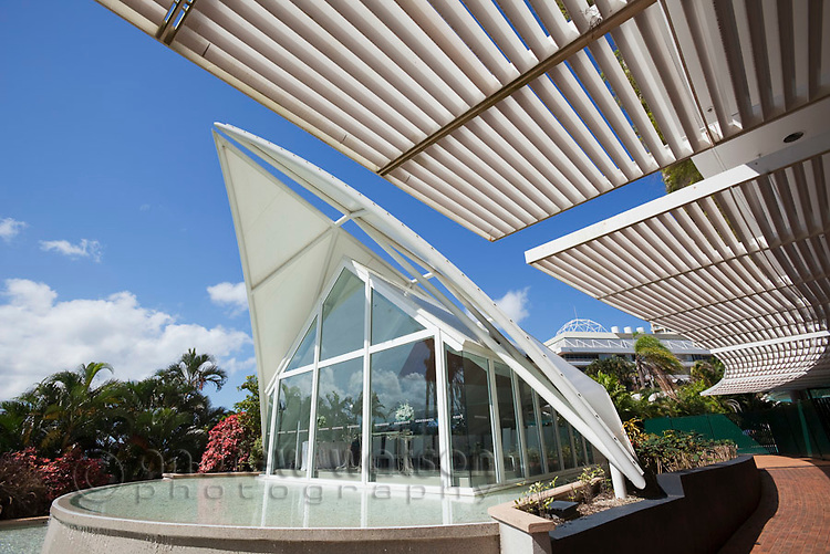 Wedding chapel at Hilton Hotel Cairns.  Cairns, Queensland, Australia