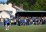 A fight breaks out between rival fans on the pitch after the visitors score their decisive third goal as Warrington Town played King's Lynn Town in the Northern Premier League premier division super play-off final tie at Cantilever Park, Warrington. The one-off match was between the winners of play-off matches in the Northern Premier League and the Southern League Premier Division Central to determine who would be promoted to the National League North. The visitors from Norfolk won 3-2 after extra-time, watched by a near-capacity crowd of 2,200.