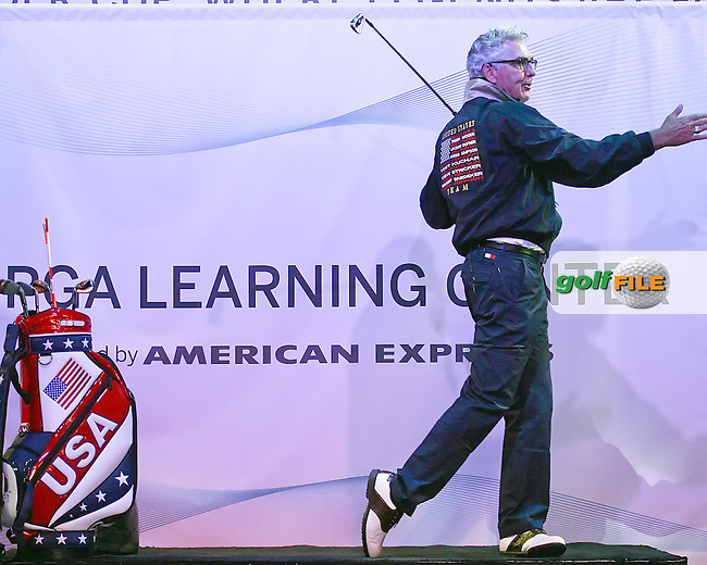 26 SEP 12  PGA Professional Mark Bradley conducts a group lesson at The 39th Ryder Cup at The Medinah Country Club in Medinah, Illinois.