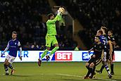 31st October 2017, Hillsborough, Sheffield, England; EFL Championship football, Sheffield Wednesday versus Millwall; Jordan Archer of Millwall FC jumps high to catch the ball