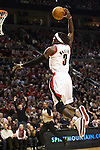 12/26/11--Trail Blazers forward Gerald Wallace slam dunks the ball in the home-opener against the Philadelphia 76ers in the first quarter..Photo by Jaime Valdez. .........................................