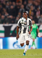 Calcio, Champions League: Gruppo H, Juventus vs Lione. Torino, Juventus Stadium, 2 novembre 2016. <br /> Juventus&rsquo; Patrice Evra in action during the Champions League Group H football match between Juventus and Lyon at Turin's Juventus Stadium, 2 November 2016. The game ended 1-1.<br /> UPDATE IMAGES PRESS/Isabella Bonotto