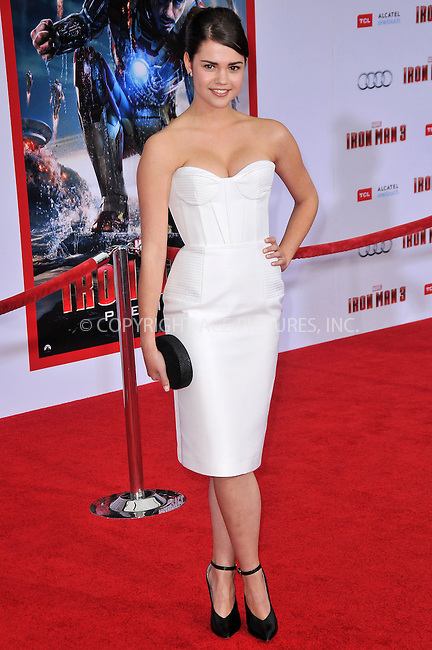 WWW.ACEPIXS.COM....US Sales Only....April 24 2013, LA....Maia Mitchell at the premiere of 'Iron Man 3' held at the El Capitan Theater in Hollywood, Los Angeles....By Line: Famous/ACE Pictures......ACE Pictures, Inc...tel: 646 769 0430..Email: info@acepixs.com..www.acepixs.com