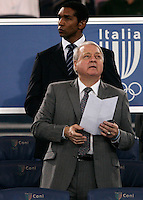 AS Roma's newly designated president Thomas Richard DiBenedetto, of the United States, looks on prior to the start of an Europa League preliminary second leg football match between AS Roma and SK Slovan Bratislava, at Rome's Olympic stadium, Roma, 25 august 2011..UPDATE IMAGES PRESS/Riccardo De Luca