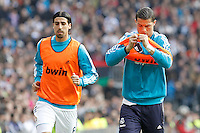 Real Madrid's Sami Khedira (l) and Cristiano Ronaldo during La Liga match.March 02,2013. (ALTERPHOTOS/Acero) /NortePhoto