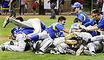 MIDDLETOWN CT. 09 June 2018-060918SV17- Seymour High players celebrate after beating Wolcott High 13-2 in the CIAC Class M baseball championship in Middletown Saturday. <br /> Steven Valenti Republican-American