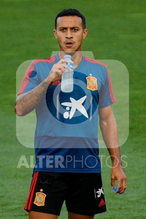 Thiago Alcantara during the Trainee Session at Ciudad del Futbol in Las Rozas, Spain. September 02, 2019. (ALTERPHOTOS/A. Perez Meca)