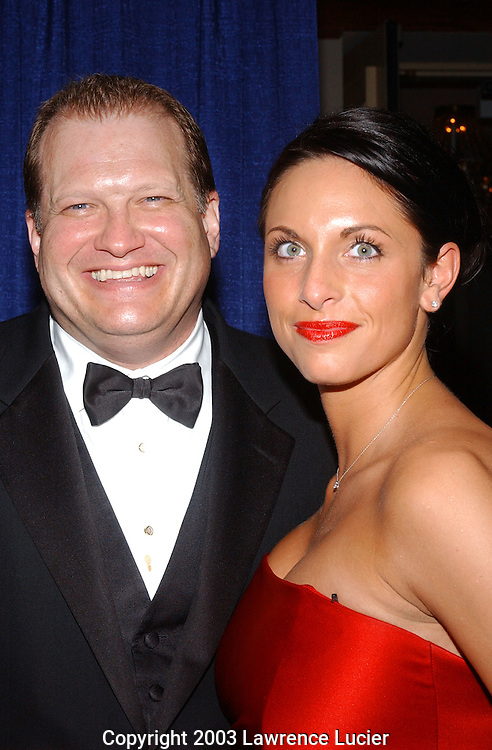 Drew Carey (L) and Danielle Riepole