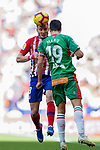 Saul Niguez Esclapez of Atletico de Madrid (L) fights for the ball with Manuel Alejandro Garcia Sanchez of Deportivo Alaves during the La Liga 2018-19 match between Atletico de Madrid and Deportivo Alaves at Wanda Metropolitano on December 08 2018 in Madrid, Spain. Photo by Diego Souto / Power Sport Images
