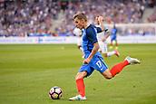 June 13th 2017, Stade de France, Paris, France; International football friendly, France versus England;  LUCAS DIGNE (fra) shoots