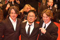 "Willem Dafoe, Dennis Lee and Marco Weber attend the ""Fireflies In The Garden"" premiere during day four of the 58th Berlinale International Film Festival held at the Berinale Palast on February 10, 2008 in Berlin, Germany.  (Philip Schulte/PressPhotoIntl.com)"