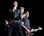 Rascal Flatts, from left, Joe Don Rooney, Gary LeVox and Jay DeMarcus, performs at the Summer Concert Series at the Harvey's Outdoor Arena in Stateline, Nev., on Friday, July 19, 2013.<br /> Photo by Cathleen Allison