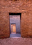 Ancient doorways, Casa Bonita, Chaco Culture National Historical Park, New Mexico