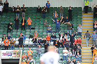 Blackpool fans celebrate their sides first goal, scored by Mark Cullen<br /> <br /> Photographer Kevin Barnes/CameraSport<br /> <br /> The EFL Sky Bet League One - Plymouth Argyle v Blackpool - Saturday 15th September 2018 - Home Park - Plymouth<br /> <br /> World Copyright &copy; 2018 CameraSport. All rights reserved. 43 Linden Ave. Countesthorpe. Leicester. England. LE8 5PG - Tel: +44 (0) 116 277 4147 - admin@camerasport.com - www.camerasport.com