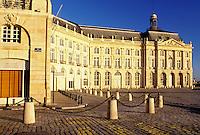 Bordeaux, France, Gironde, Aquitaine, Europe, Bourse de Commerce in the city of Bordeaux. Famous wine region.
