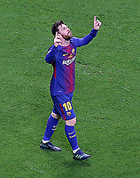 FC Barcelona's Leo Messi celebrates goal during Spanish King's Cup Final match. April 21,2018. (ALTERPHOTOS/Acero)