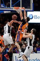 Dubljevic vs Suton &amp; Lovet<br /> Liga Endesa ACB - 2014/15<br /> J14<br /> Valencia Basket vs Fiatc Joventut
