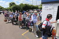 General view of a large queue of spectators ahead of Essex Eagles vs Nottinghamshire, Royal London One-Day Cup Semi-Final Cricket at The Cloudfm County Ground on 16th June 2017
