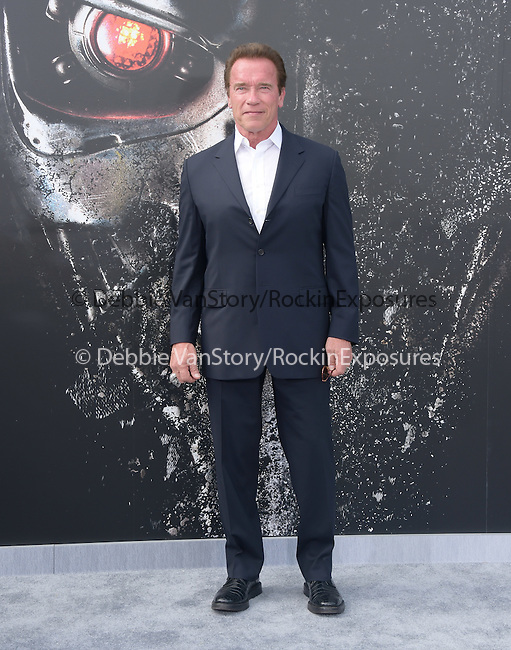 Arnold Schwarzenegger attends The Paramount Pictures L.A. Premiere of Terminator Genisys held at The DolbyTheatre  in Hollywood, California on June 28,2015                                                                               © 2015 Hollywood Press Agency