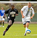 17 October 2007: The University of Maryland Retrievers' Shondell Busby, a Junior from Toronto, Ontario, in action against the University of Vermont Catamounts at Historic Centennial Field in Burlington, Vermont. The Catamounts and Retrievers battled to a scoreless, double-overtime tie...Mandatory Photo Credit: Ed Wolfstein Photo