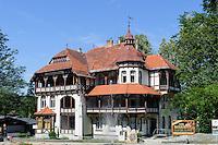 Villa Szarotka in Swieradow Zdroj, Woiwodschaft Niederschlesien (Wojew&oacute;dztwo dolnośląskie), Polen, Europa<br /> Villa Szarotka in Swieradow Zdroj, Poland, Europe