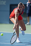 Flavia Pannetta (ITA) loses to Victoria Azarenka (BLR) 6-4, 6-2 at the US Open being played at USTA Billie Jean King National Tennis Center in Flushing, NY on September 6, 2013