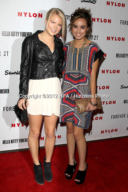 LOS ANGELES - OCT 15:  Kelli Goss, Savannah Jayde arrives at  Nylon's October IT Issue party at London West Hollywood on October 15, 2012 in Los Angeles, CA