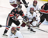 Yale Lewis, Brett Motherwell, Tim Kunes - The Boston College Eagles defeated Northeastern University Huskies 5-3 on Saturday, November 19, 2005, at Kelley Rink in Conte Forum at Chestnut Hill, MA.