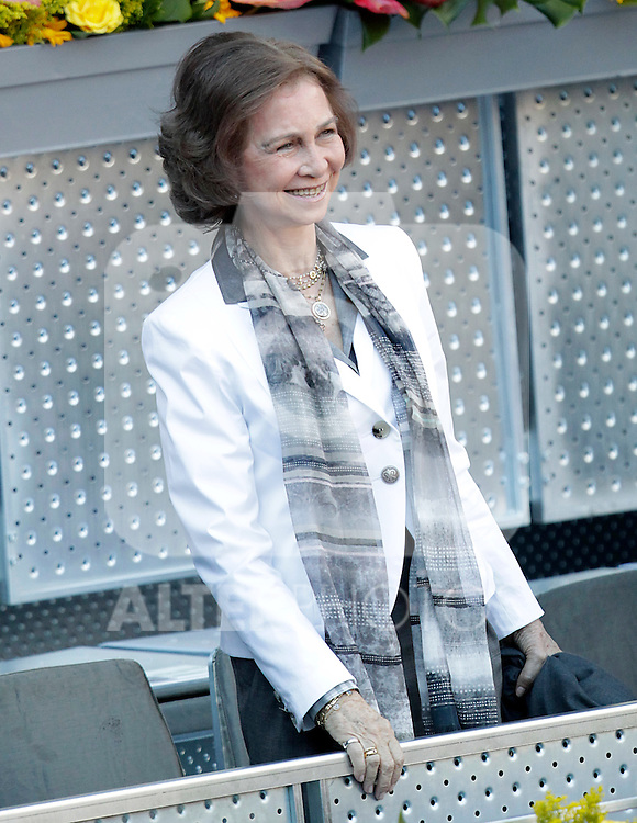 Queen Sofia of Spain in the Tennis Madrid Open ATP Singles Final, May 16,2010..(Alfaqui/Cesar Cebolla)