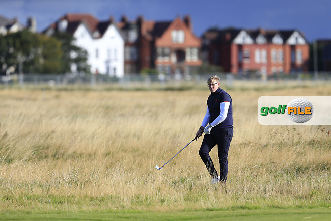 Thomas Plumb  (GB&I) on the 3rd fairway during the final day foursomes matches at the Walker Cup, Royal Liverpool Golf Club, Hoylake, Cheshire, England. 08/09/2019.<br /> Picture Fran Caffrey / Golffile.ie<br /> <br /> All photo usage must carry mandatory copyright credit (© Golffile | Fran Caffrey)