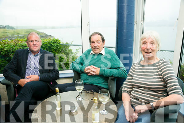 l-r  Declan Costello, Hugh Campbell and Jean Campbell enjoying the Tralee Bay Sailing Club  60 years Celebration evening on Saturday