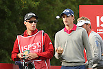 Welsh golfer Rhys Davies waits on the 14th tee during the first round of the ISPS Handa Wales Open 2013 at the Celtic Manor Resort<br /> <br /> 29.08.13<br /> <br /> ©Steve Pope-Sportingwales