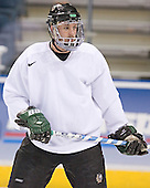 Kyle Radke - The University of North Dakota Fighting Sioux practice on Wednesday, April 5, 2006, at the Bradley Center in Milwaukee, Wisconsin prior to taking on Boston College in the 2006 Frozen Four Semi-Final the following day.