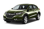 2016 Honda HR-V EX 5 Door Suv Angular Front stock photos of front three quarter view
