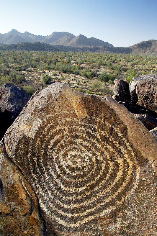Hohokam rock art. Saguaro National Park. Arizona