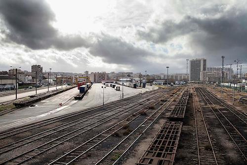 Marseille, Jan 2014. Bougainville, gare du Canet a l'abandon, avant l'execution de la phase 2 du plan de rénovation Euromediteranee