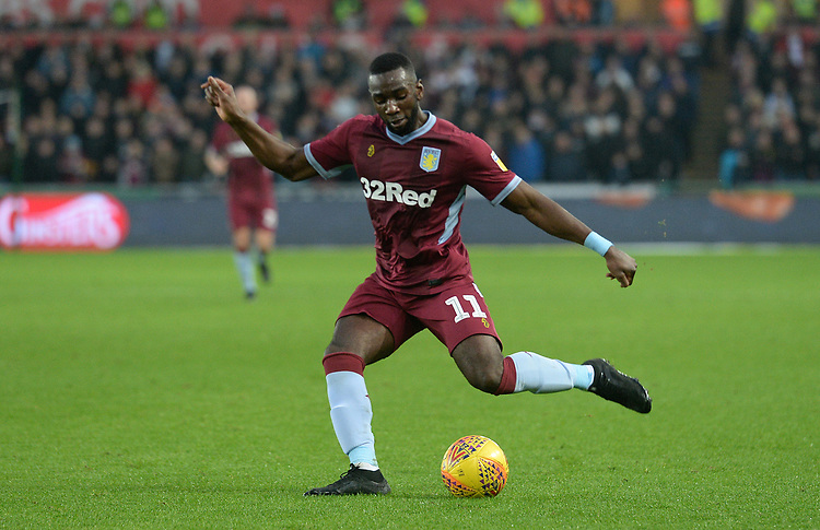 Aston Villa's Yannick Bolasie during the game <br /> <br /> Photographer Ian Cook/CameraSport<br /> <br /> The EFL Sky Bet Championship - Swansea City v Aston Villa - Wednesday 26th December 2018 - Liberty Stadium - Swansea<br /> <br /> World Copyright © 2018 CameraSport. All rights reserved. 43 Linden Ave. Countesthorpe. Leicester. England. LE8 5PG - Tel: +44 (0) 116 277 4147 - admin@camerasport.com - www.camerasport.com