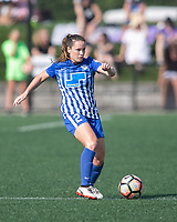 Allston, MA - Saturday August 19, 2017: Allysha Chapman during a regular season National Women's Soccer League (NWSL) match between the Boston Breakers and the Orlando Pride at Jordan Field.